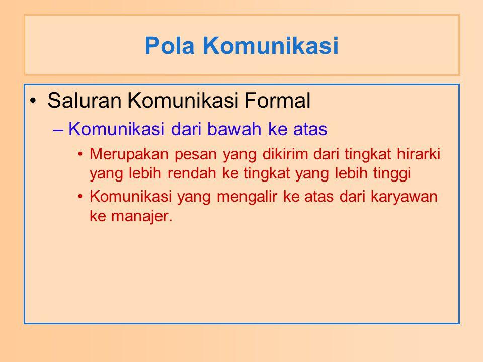 Pola Komunikasi Saluran Komunikasi Formal
