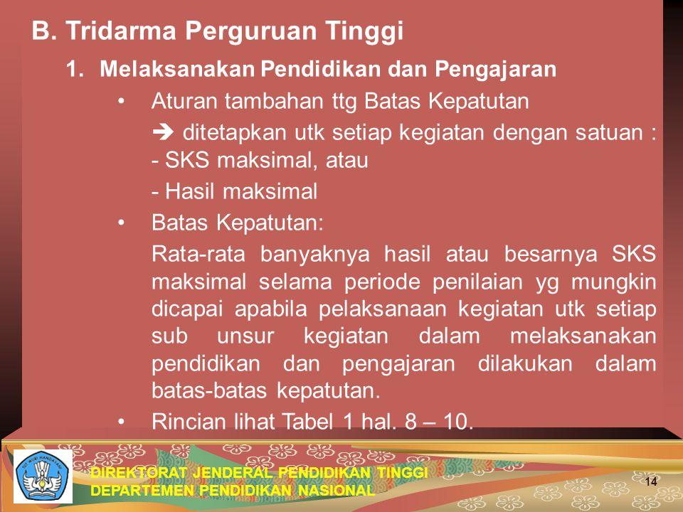 B. Tridarma Perguruan Tinggi 1. Melaksanakan Pendidikan dan Pengajaran