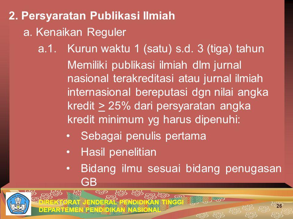 2. Persyaratan Publikasi Ilmiah