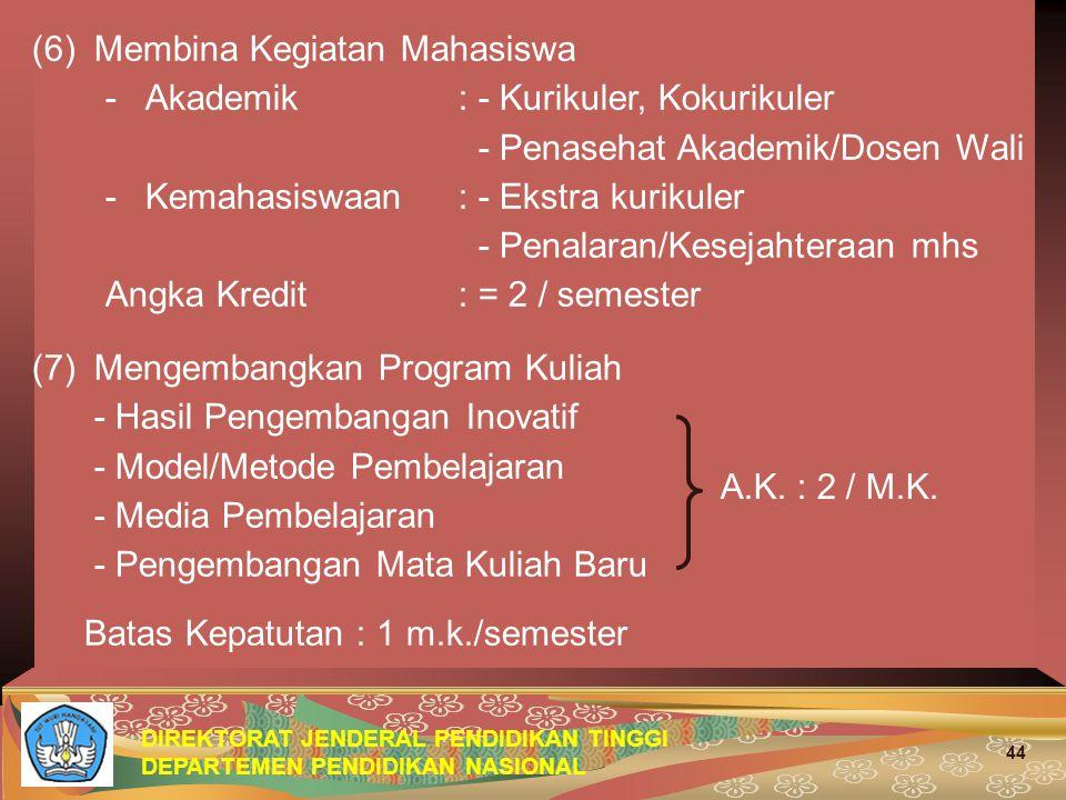 (6) Membina Kegiatan Mahasiswa