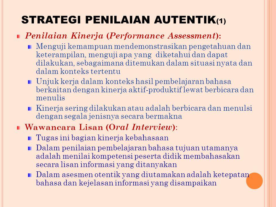 STRATEGI PENILAIAN AUTENTIK(1)