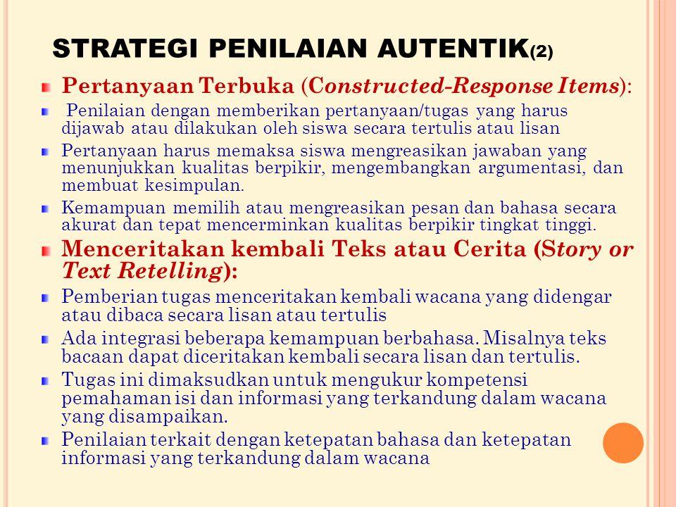STRATEGI PENILAIAN AUTENTIK(2)