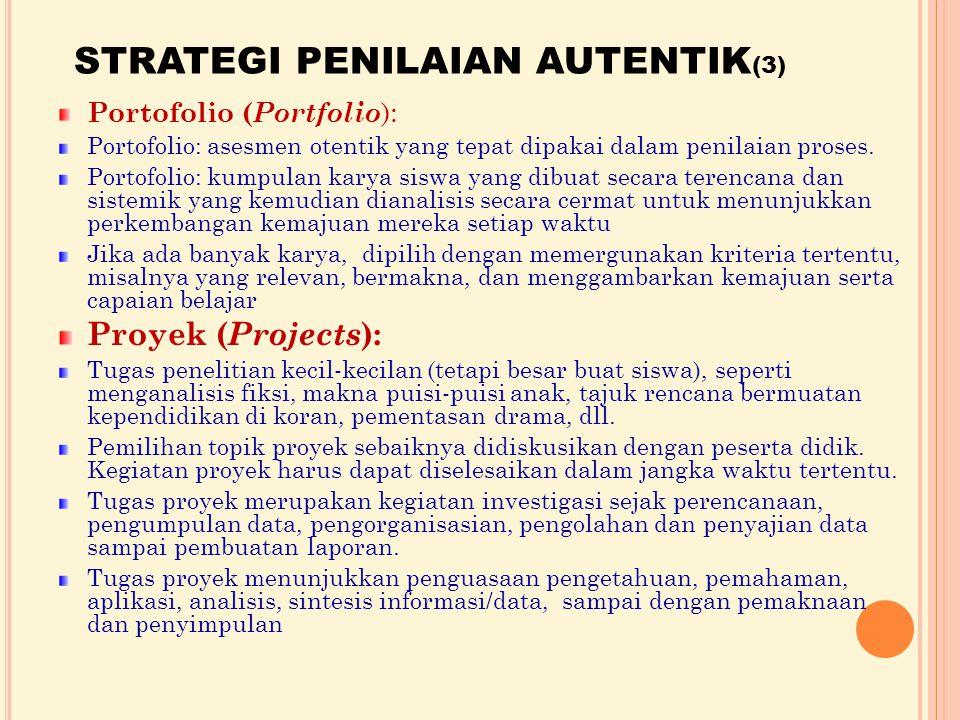 STRATEGI PENILAIAN AUTENTIK(3)