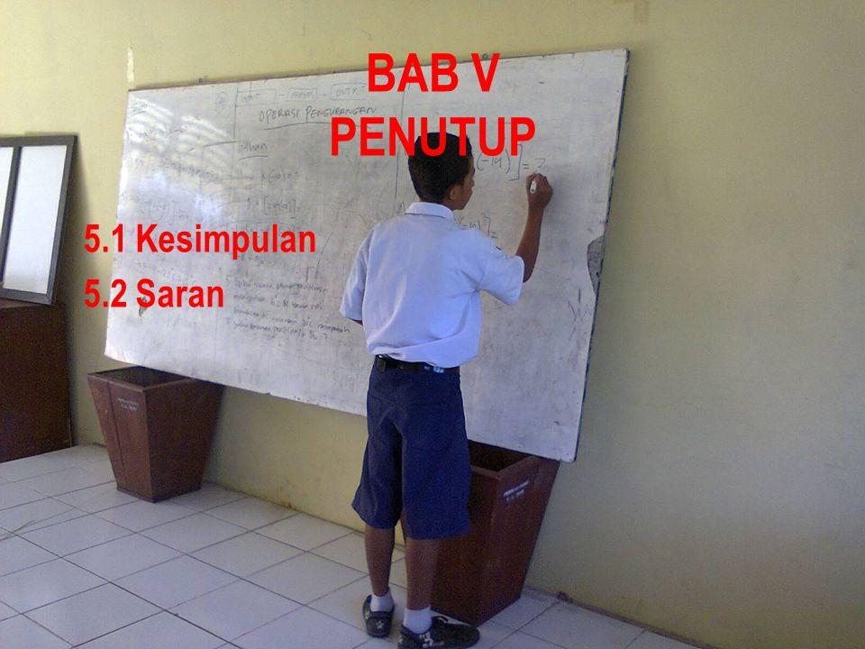 BAB V PENUTUP 5.1 Kesimpulan 5.2 Saran