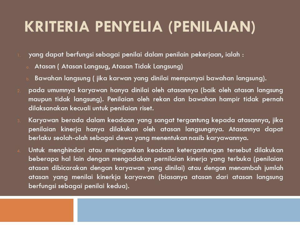 Kriteria penyelia (Penilaian)