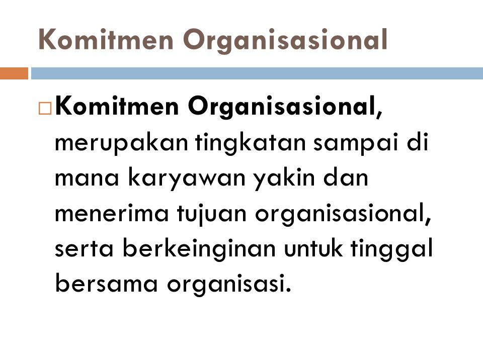 Komitmen Organisasional