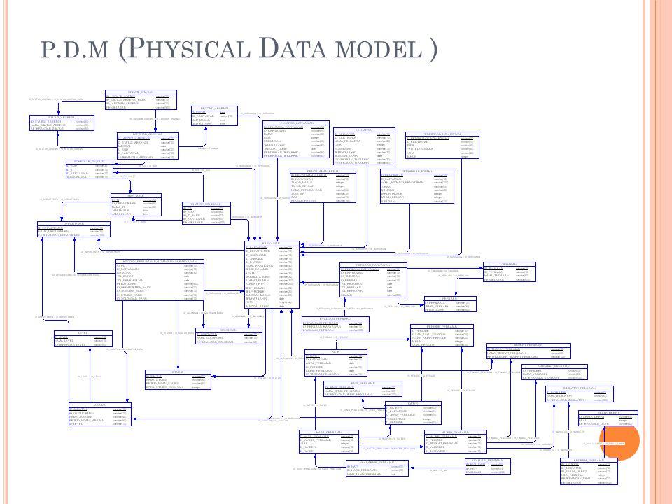 p.d.m (Physical Data model )