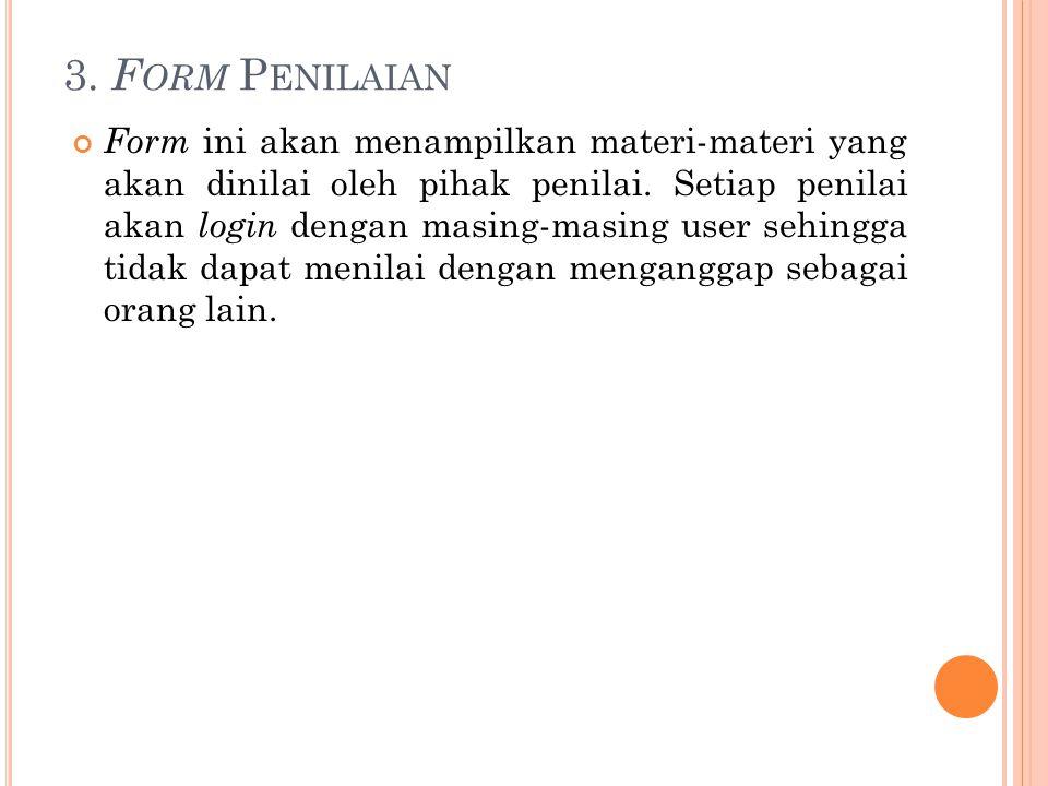3. Form Penilaian