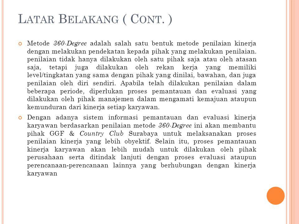 Latar Belakang ( Cont. )