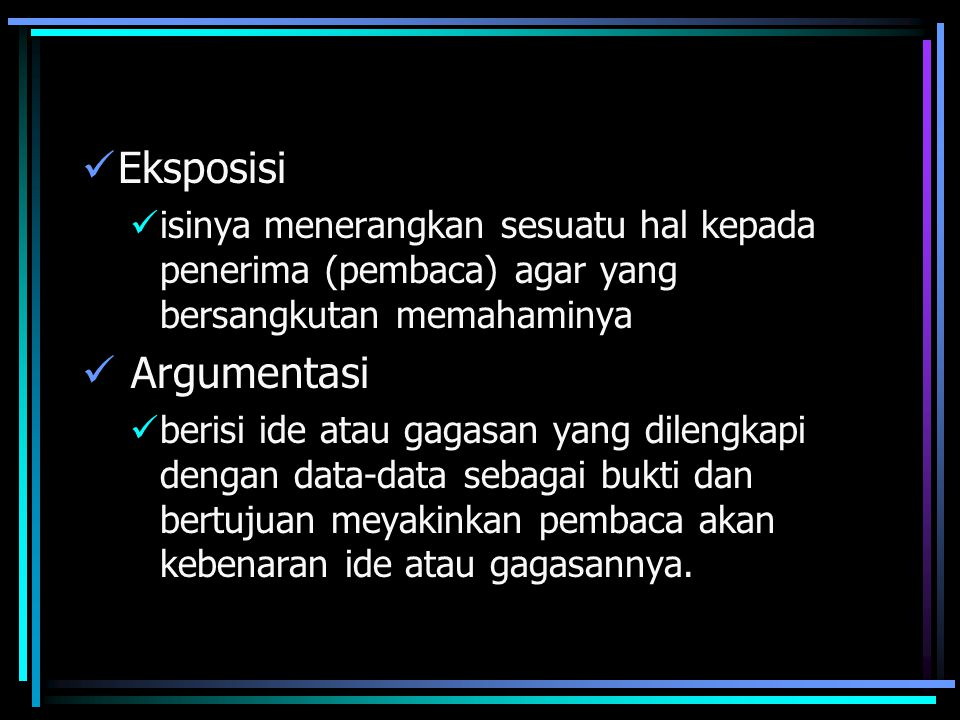 Eksposisi Argumentasi
