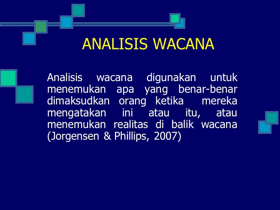 ANALISIS WACANA