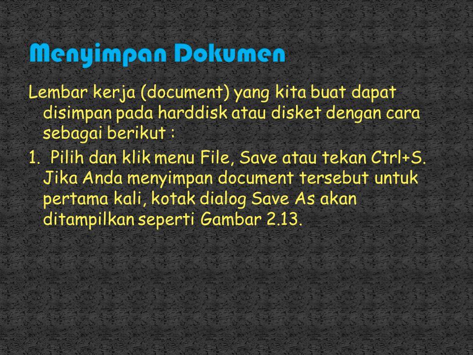 Menyimpan Dokumen