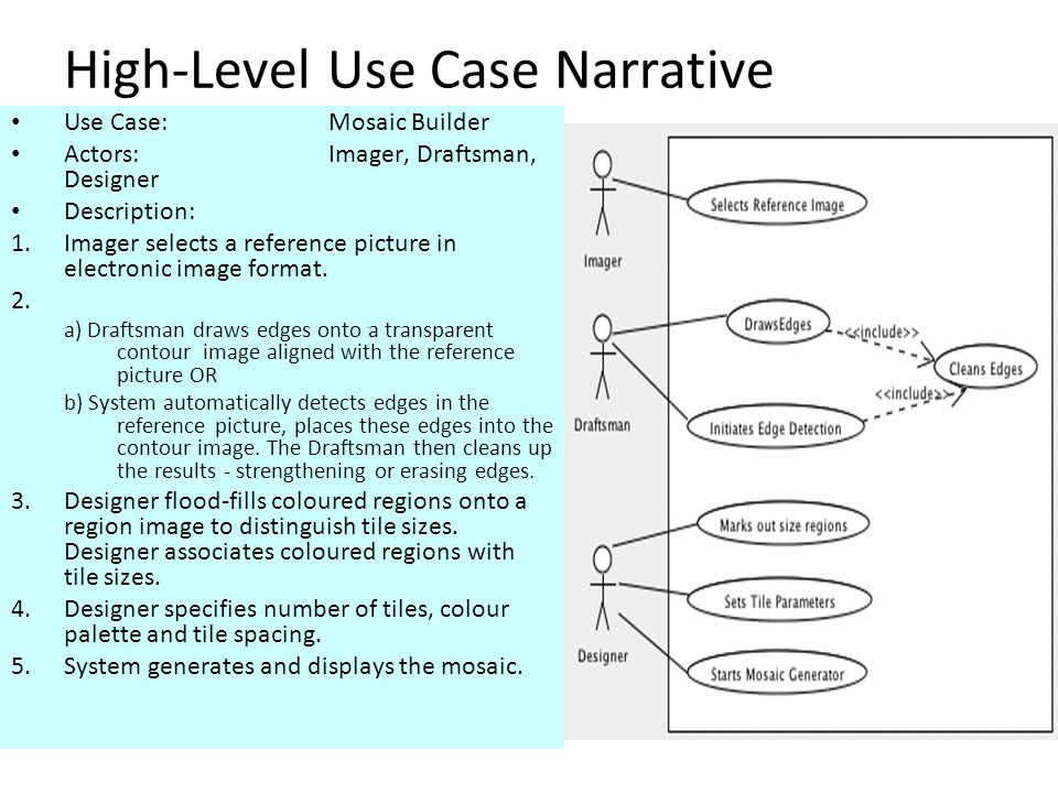 High-Level Use Case Narrative