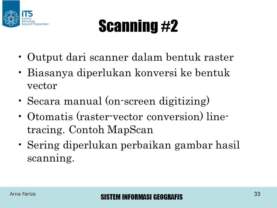 Scanning #2 Output dari scanner dalam bentuk raster