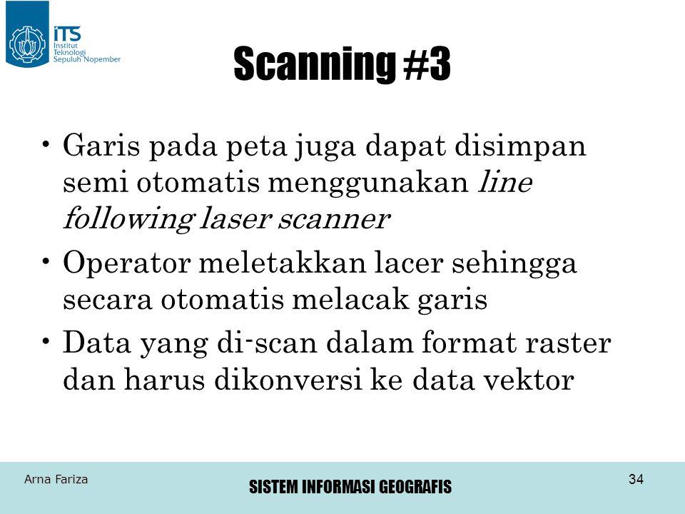 Scanning #3 Garis pada peta juga dapat disimpan semi otomatis menggunakan line following laser scanner.