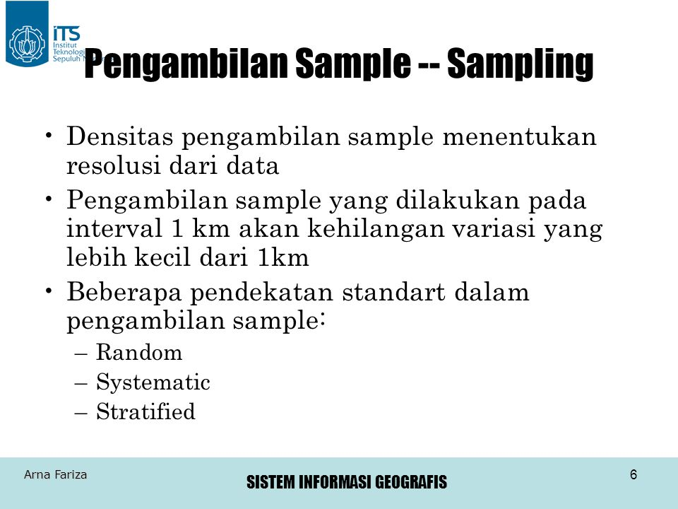 Pengambilan Sample -- Sampling