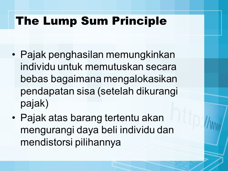 The Lump Sum Principle