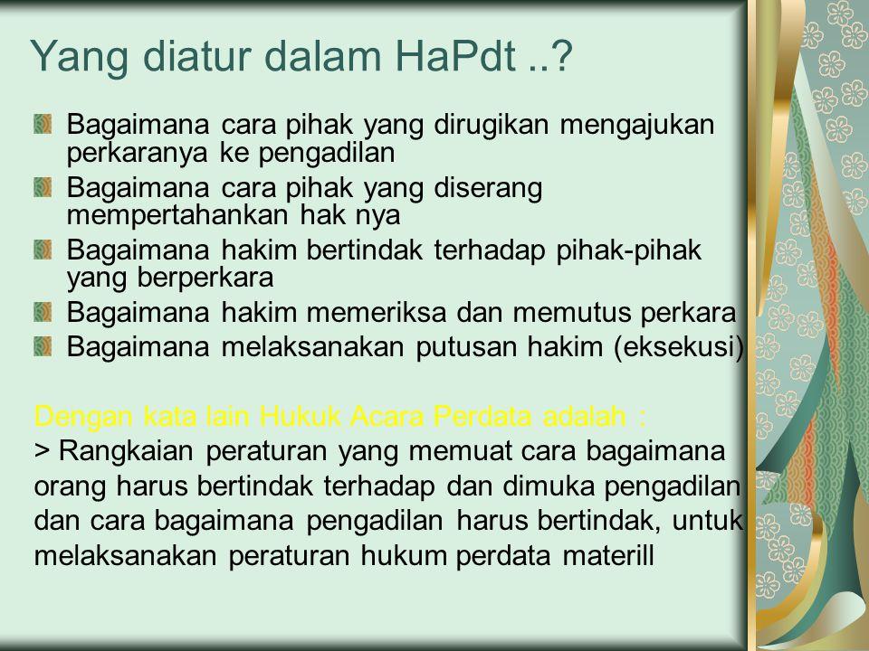Yang diatur dalam HaPdt ..