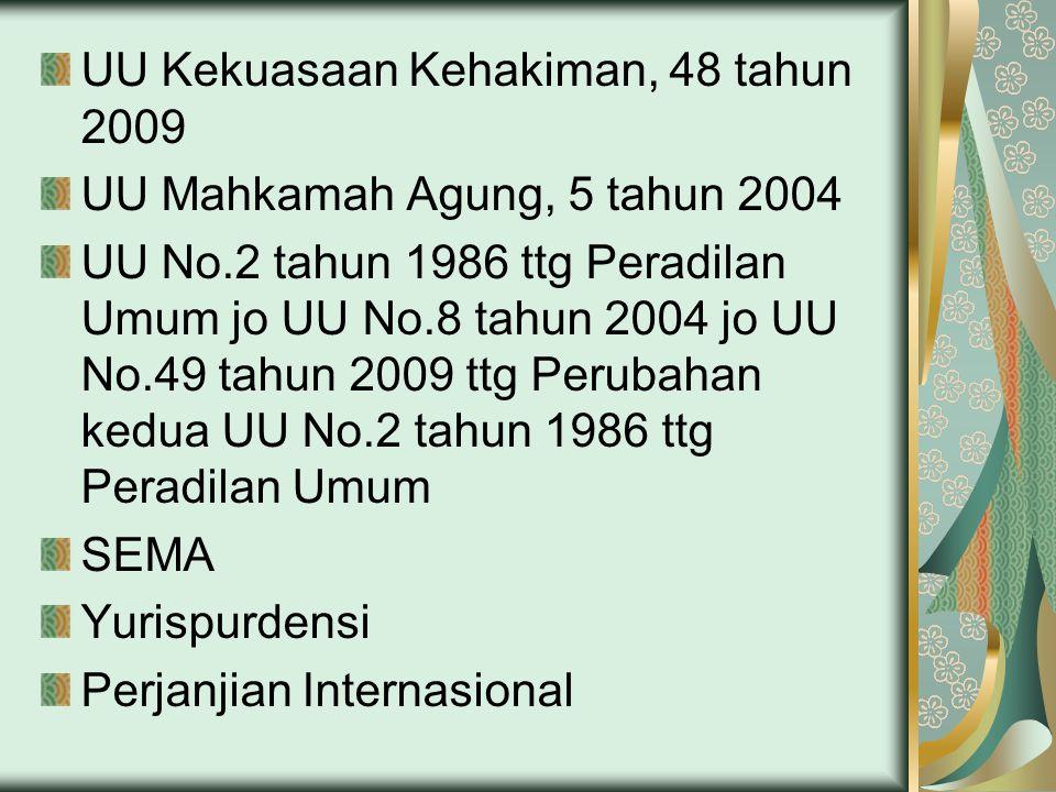 UU Kekuasaan Kehakiman, 48 tahun 2009