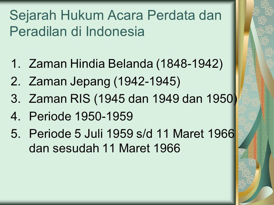 Sejarah Hukum Acara Perdata dan Peradilan di Indonesia