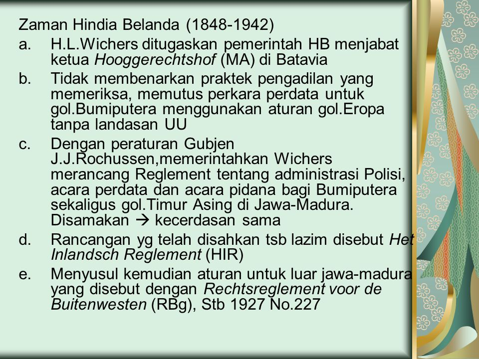 Zaman Hindia Belanda (1848-1942)