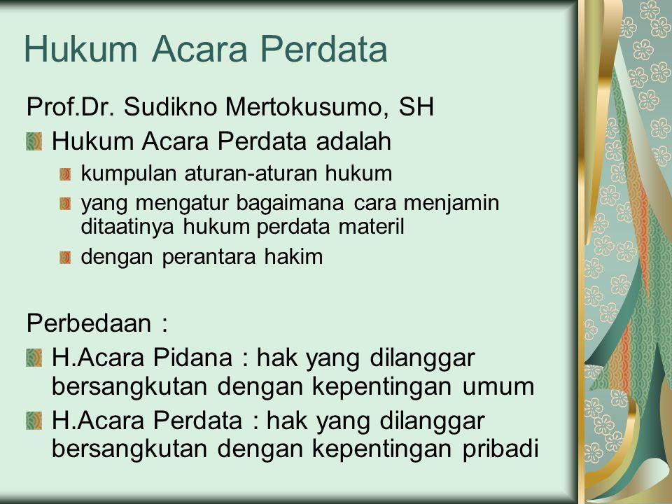 Hukum Acara Perdata Prof.Dr. Sudikno Mertokusumo, SH