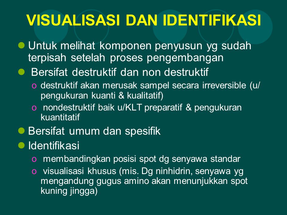 VISUALISASI DAN IDENTIFIKASI