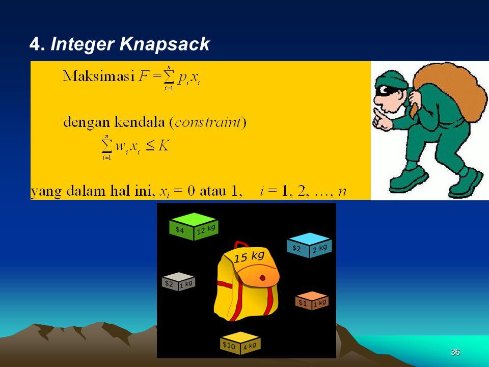 4. Integer Knapsack