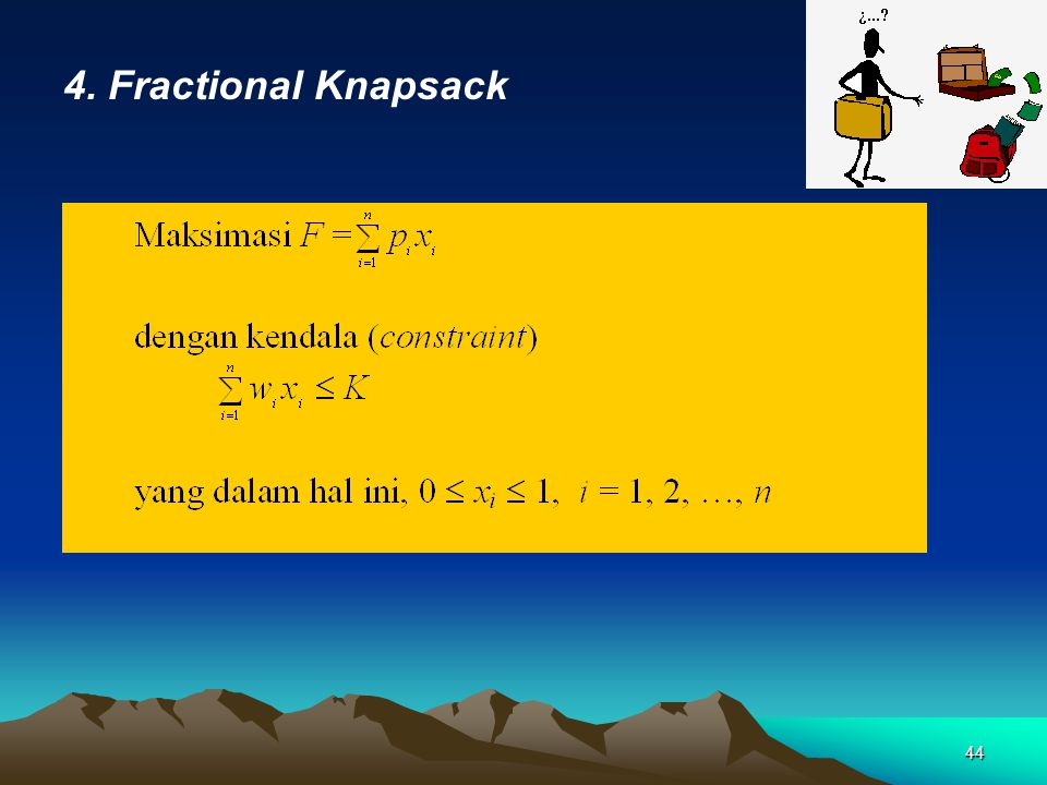 4. Fractional Knapsack