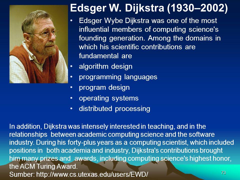 Edsger W. Dijkstra (1930–2002)