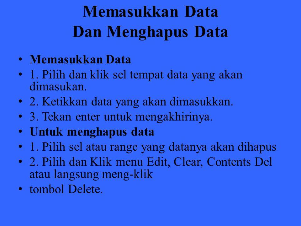 Memasukkan Data Dan Menghapus Data