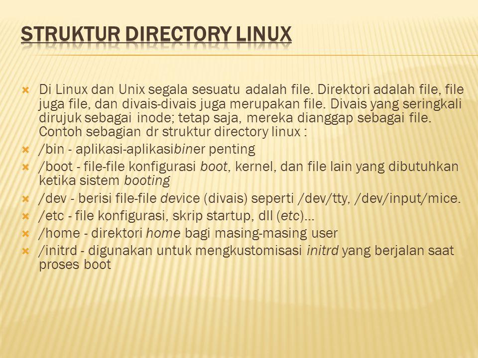 STRUKTUR DIRECTORY LINUX