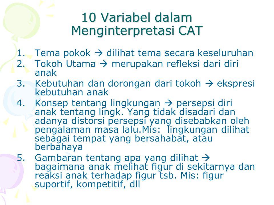 10 Variabel dalam Menginterpretasi CAT
