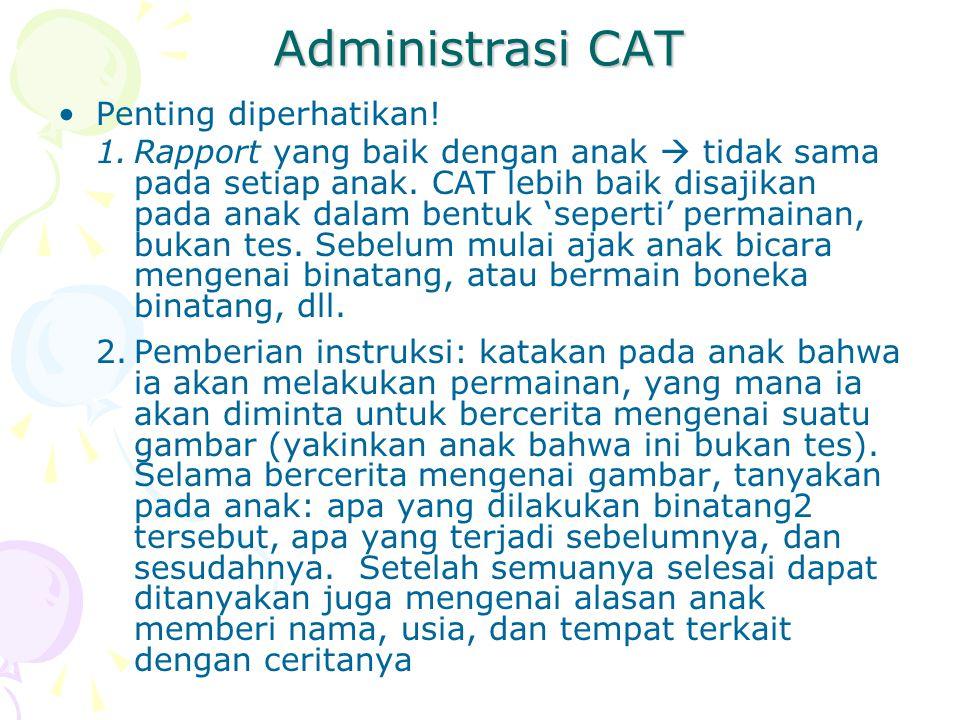 Administrasi CAT Penting diperhatikan!
