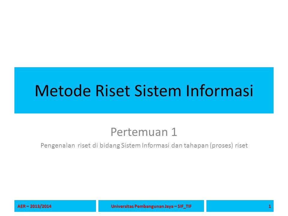 Metode Riset Sistem Informasi
