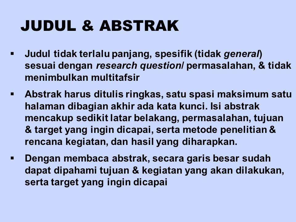 JUDUL & ABSTRAK