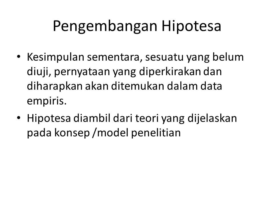 Pengembangan Hipotesa