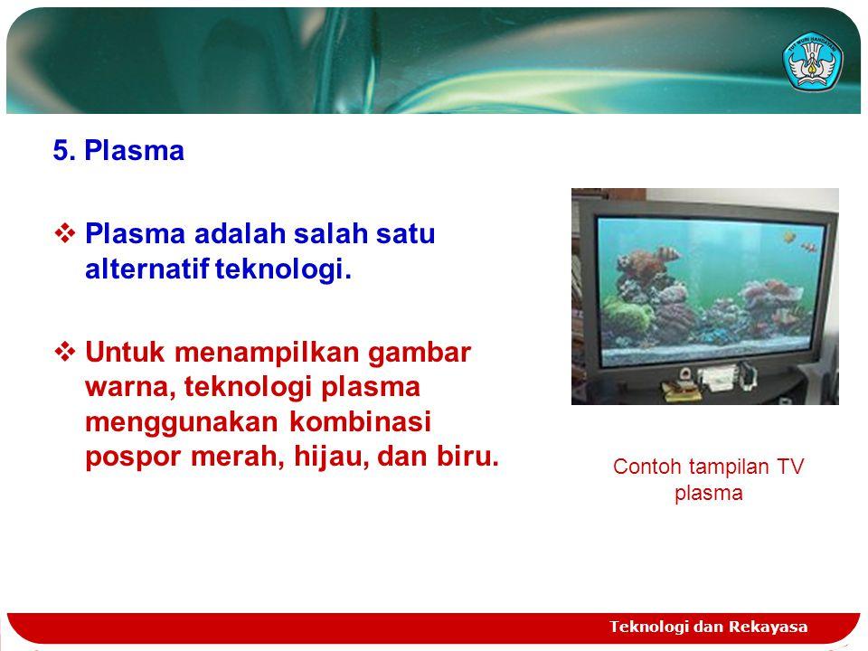 Contoh tampilan TV plasma