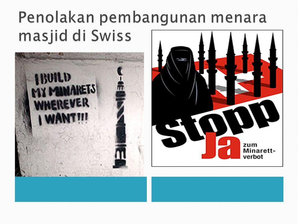 Penolakan pembangunan menara masjid di Swiss