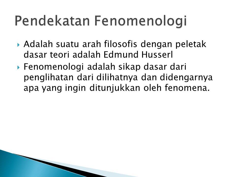 Pendekatan Fenomenologi