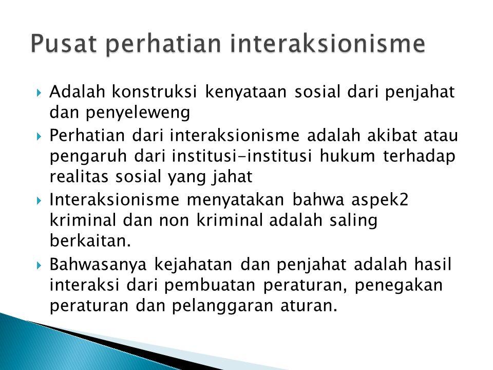 Pusat perhatian interaksionisme