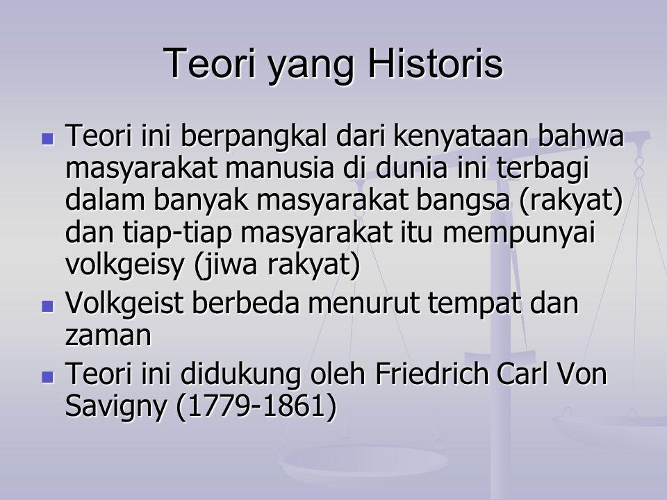 Teori yang Historis