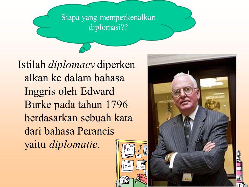 Siapa yang memperkenalkan diplomasi