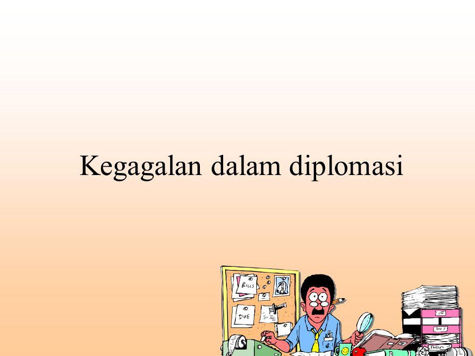 Kegagalan dalam diplomasi