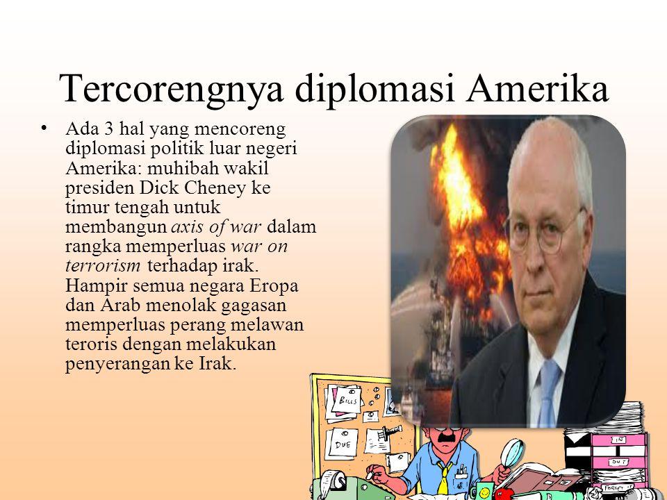 Tercorengnya diplomasi Amerika