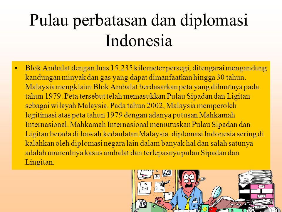 Pulau perbatasan dan diplomasi Indonesia