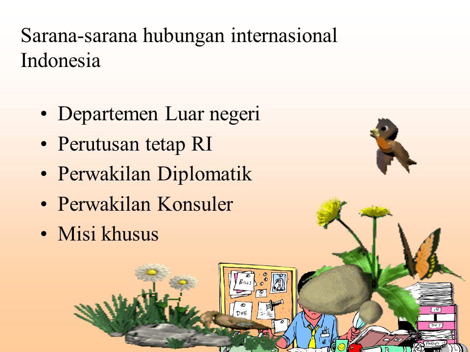 Sarana-sarana hubungan internasional Indonesia