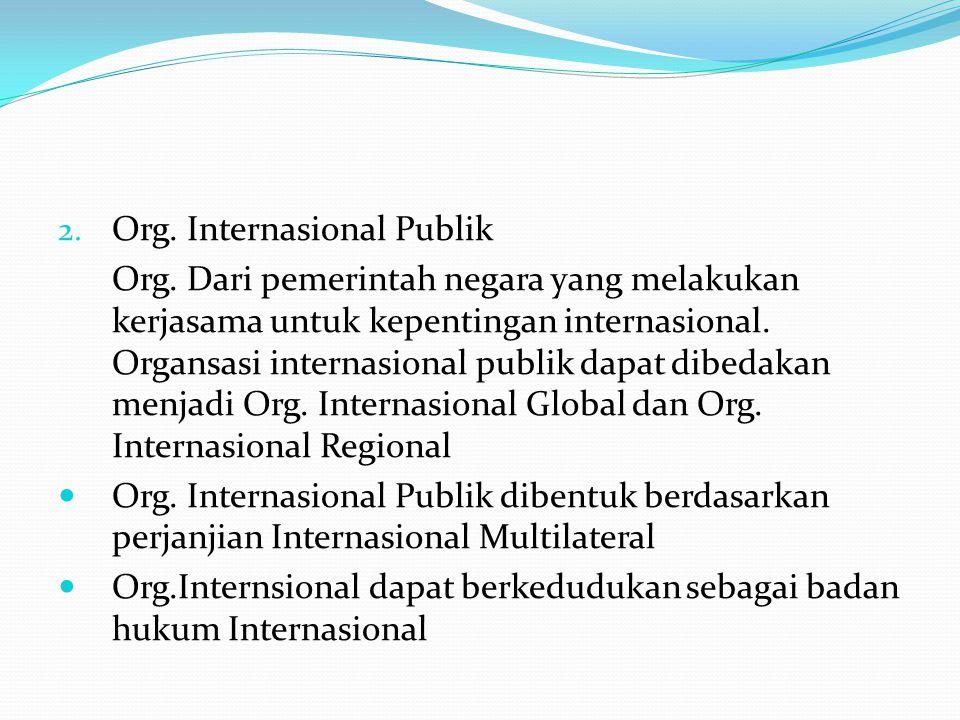 Org. Internasional Publik