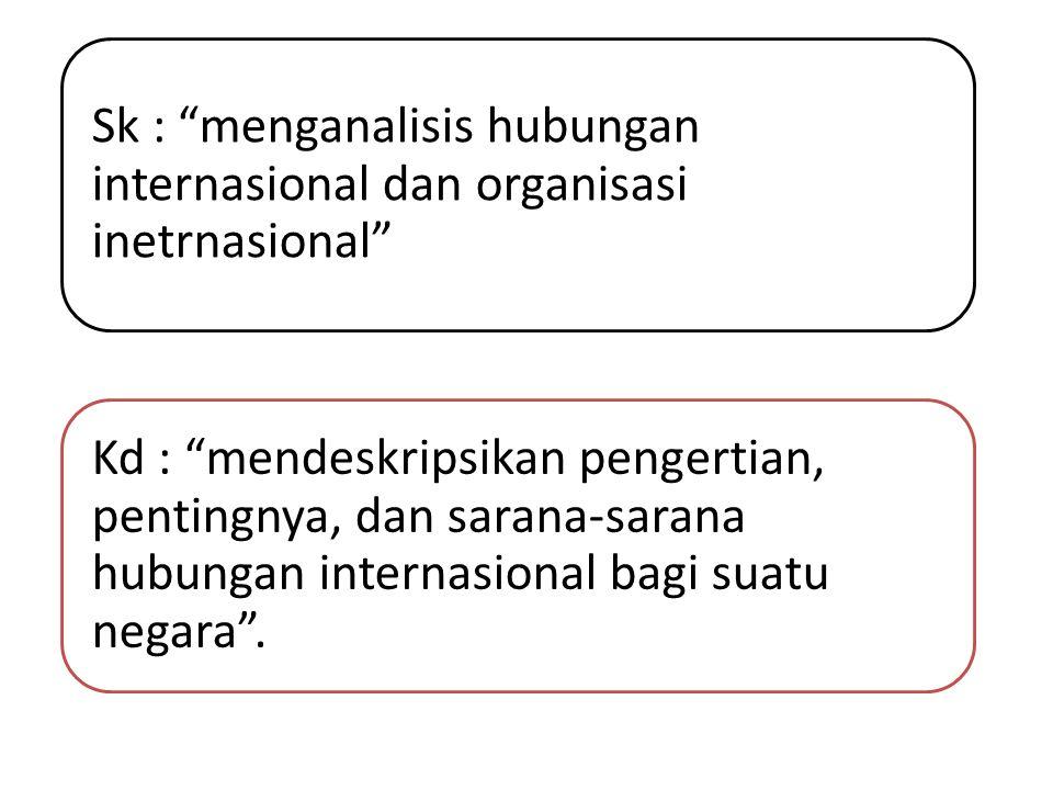 Sk : menganalisis hubungan internasional dan organisasi inetrnasional