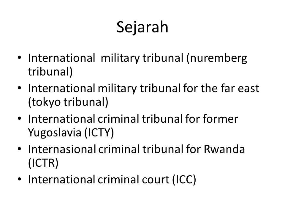 Sejarah International military tribunal (nuremberg tribunal)